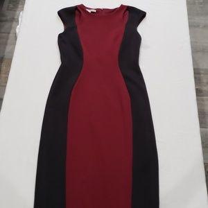 NWOT Colorblocked scuba sheath dress